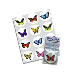 Butterfly Cupcake Toppers - SimplyCakeCraft