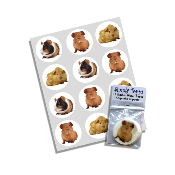 Guinea Pig Cupcake Toppers