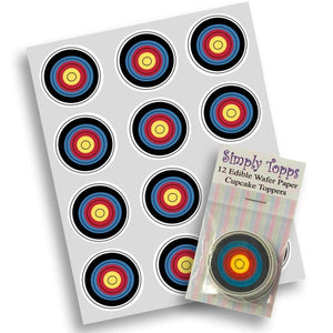 Archery/Target Cupcake Toppers -  - SimplyCakeCraft