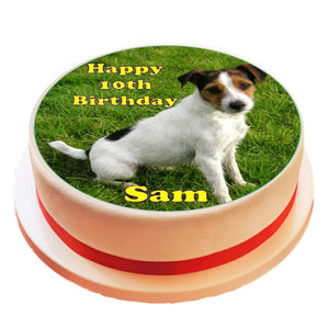 Personalised Jack Russel Dog Cake Topper - SimplyCakeCraft