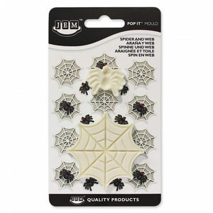 JEM Spider & Web (Set of 2) Pop-it Mold - SimplyCakeCraft