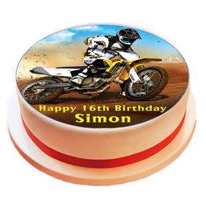 Personalised Motocross Cake Topper - SimplyCakeCraft