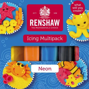 Renshaw Multipack 'Neons' Ready To Roll Icing - SimplyCakeCraft