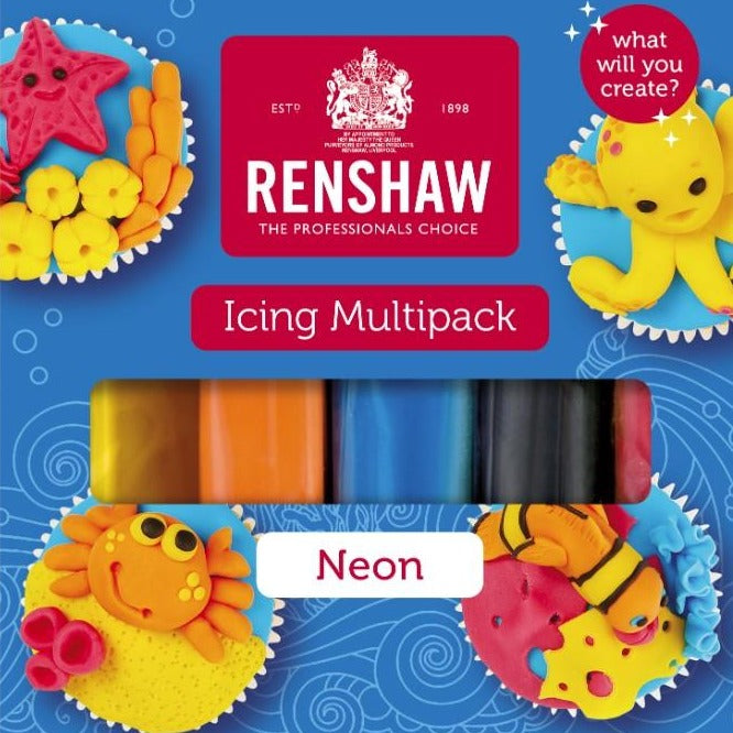 Renshaw Multipack 'Neons' Ready To Roll Icing