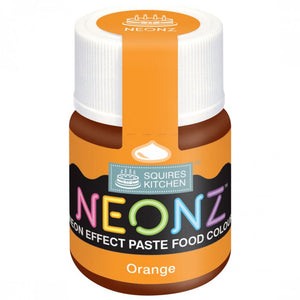 Orange Neonz Food Colour Paste By Squires Kitchen - SimplyCakeCraft
