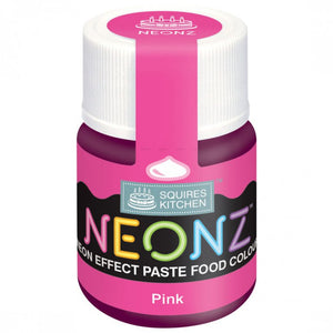 Pink Neonz Food Colour Paste By Squires Kitchen - SimplyCakeCraft
