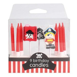 Pirate Themed Birthday Candle Set - 9 Piece - SimplyCakeCraft