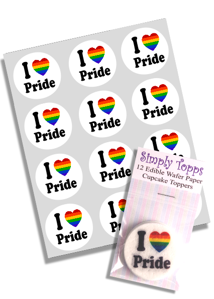 I love Pride Cupcake Toppers