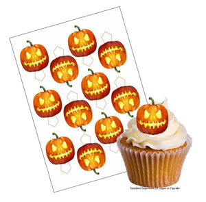 Halloween Pumpkin Cupcake Picks - SimplyCakeCraft