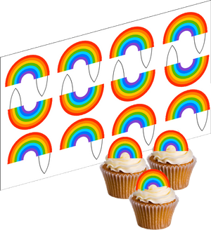 Rainbow Cupcake Picks - SimplyCakeCraft