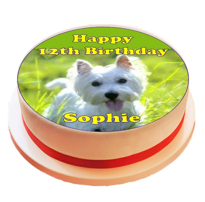 Personalised West Highland Terrier Dog Cake Topper