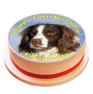 Personalised Springer Spaniel Cake Topper Decoration - SimplyCakeCraft