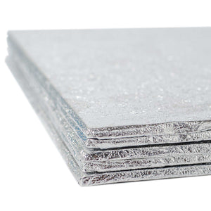 Square Silver Cake Card - Range of Sizes - SimplyCakeCraft