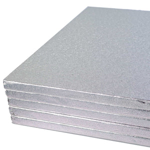 Square Silver Cake Board - Range of Sizes - SimplyCakeCraft