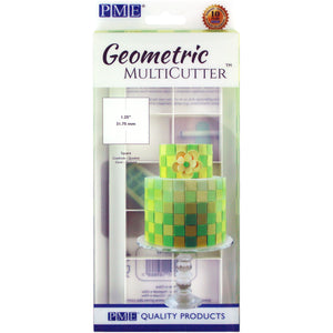 PME Square Geometric Cutter Set of 3 - SimplyCakeCraft