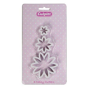 Culpitt Daisy Flower Cutters Set of 3 - SimplyCakeCraft