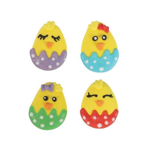 Easter Chick Sugar Decoration Pack of 12 -  - SimplyCakeCraft