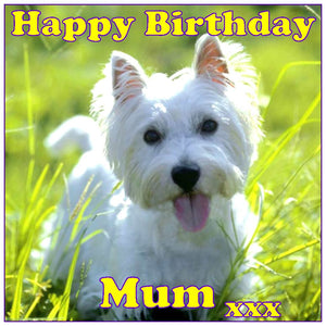 Personalised West Highland Terrier Dog Cake Topper - SimplyCakeCraft