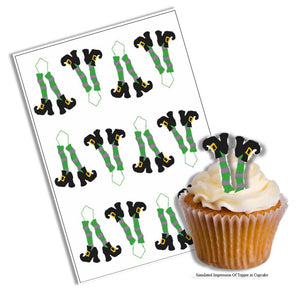 Halloween Witches Legs Cupcake Picks - SimplyCakeCraft