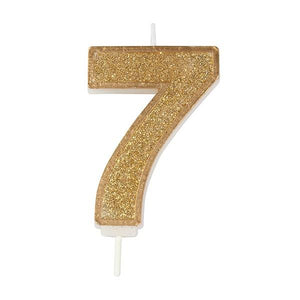 Gold Sparkle Number Candles - SimplyCakeCraft