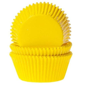 50 Yellow Cupcake Baking Cases - SimplyCakeCraft