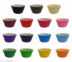 Plain Coloured Cupcake Baking Cases - Pack of 180 - SimplyCakeCraft