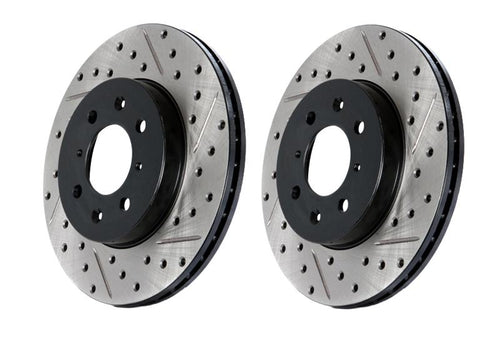 StopTech Sport Slotted and Drilled Brake Rotor (front right) ST20x