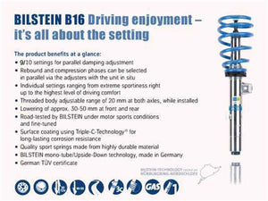 Bilstein B16 (PSS10) Subaru WRX STi Base/Limited H4 2.5L Front & Rear Performance Suspension System