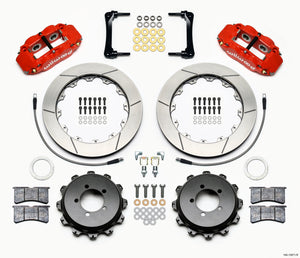 Wilwood Narrow Superlite 4R Rear Kit 12.88in Red 2012-Up Toyota / Scion FRS w/Lines