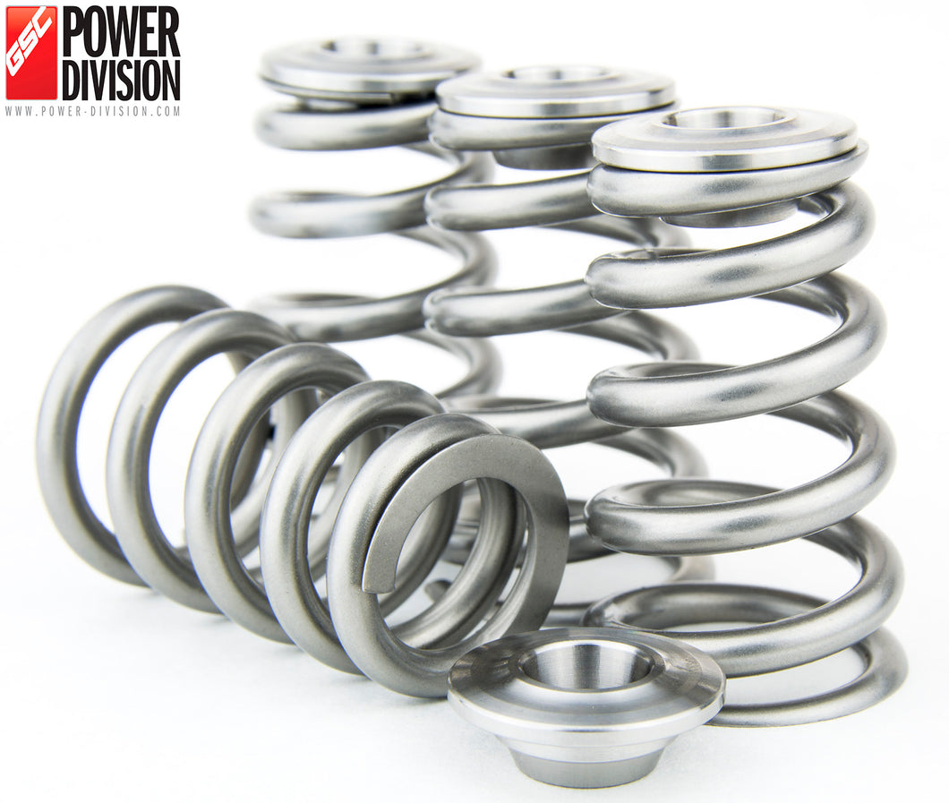 GSC Power-Division High Pressure CONICAL Valve Spring with Ti Retainer for Gen 2/3 3SGTE