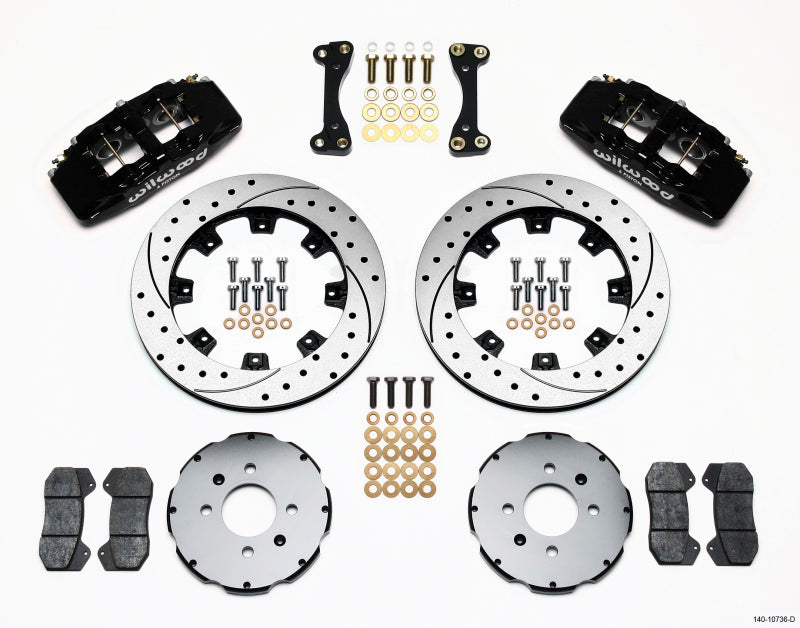 Wilwood Dynapro 6 Front Hat Kit 12.19in Drilled 90-99 Civic w/240 mm Disc