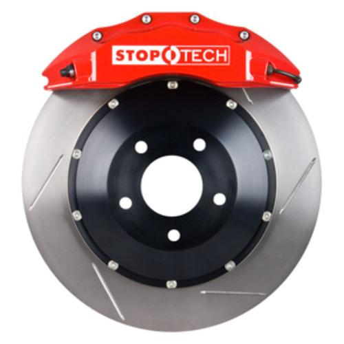Stoptech Big Brake Kit 355x32 Slotted Rotors Red Calipers WRX STI 08'-14'