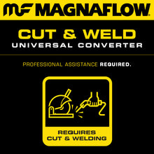 Load image into Gallery viewer, MagnaFlow Conv Universal 2.25 inch Angled O/O PC2 Front