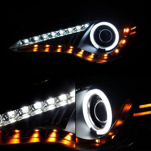 Spyder Headlight HALO Projector Black DRL/LED for 2013+ Scion FR-S/ BRZ [ZN6] PRO-YD-SFRS12-CCFL-BK