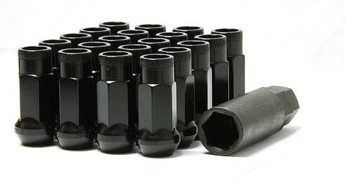 Muteki SR48 Open end lug nuts 12x1.25 Black