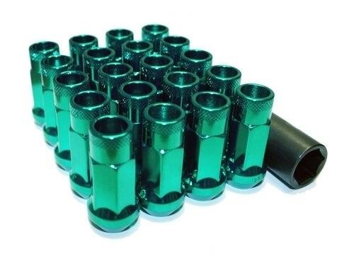 Muteki SR48 Open end lug nuts 12x1.50 Green