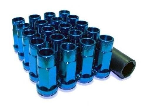 Muteki SR48 Open end lug nuts 12x1.25 Blue