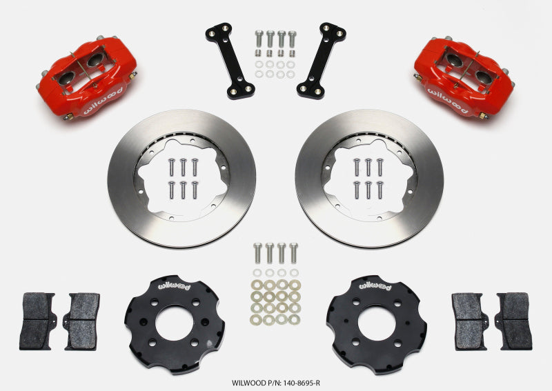 Wilwood Forged Dynalite Front Hat Kit 11.00in Red Integra/Civic w/Fac.240mm Rtr