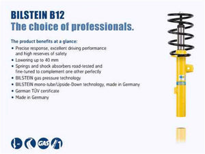 Bilstein B12 1999 BMW 323i Base Convertible Front and Rear Suspension Kit