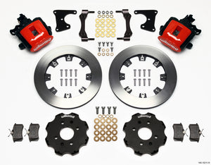 Wilwood Combination Parking Brake Rear Kit 12.19in Red Civic / Integra Drum 2.71 Hub Offset