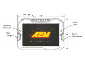 AEM Digital Display CD-7L logging race dash, CAN input only