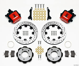 Wilwood Combination Parking Brake Rear Kit 12.19in Drilled Red 2006-Up Civic / CRZ