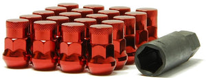 Muteki SR35 Closed end lug nuts 12x1.25 Red