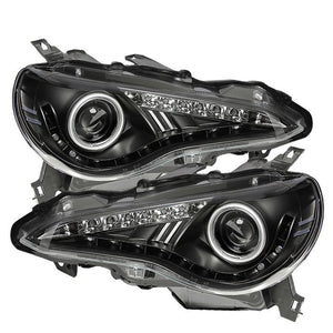 Spyder Headlight Projector DRL/LED Black for 2013+ Scion FR-S/ BRZ [ZN6/ZC6] PRO-YD-SFRS12-BK