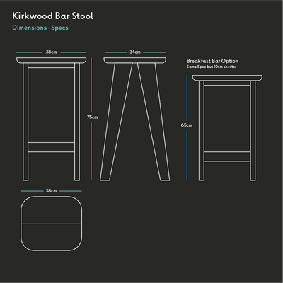 Kirkwood Bar Stool - Quanstrom Studio