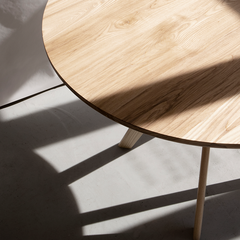Cambridge Circular Dining Table in Ash