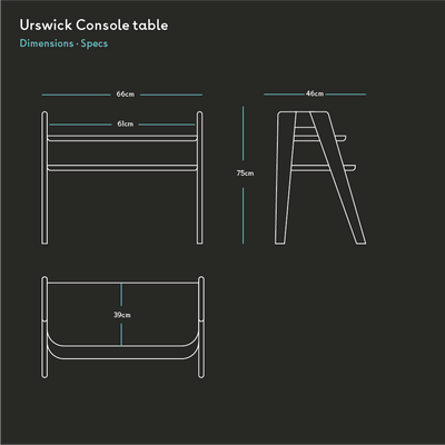 Urswick Console Table in Ash - Quanstrom Studio