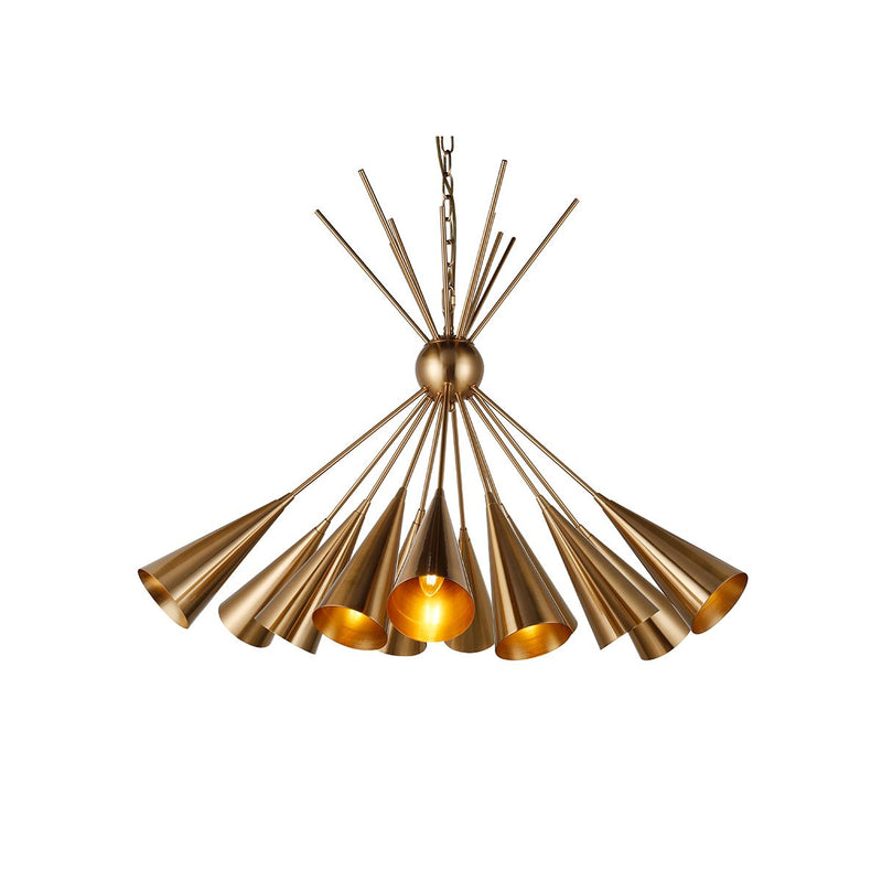 CHANDELIER IRON IN BRUSHED BRASS FINISH