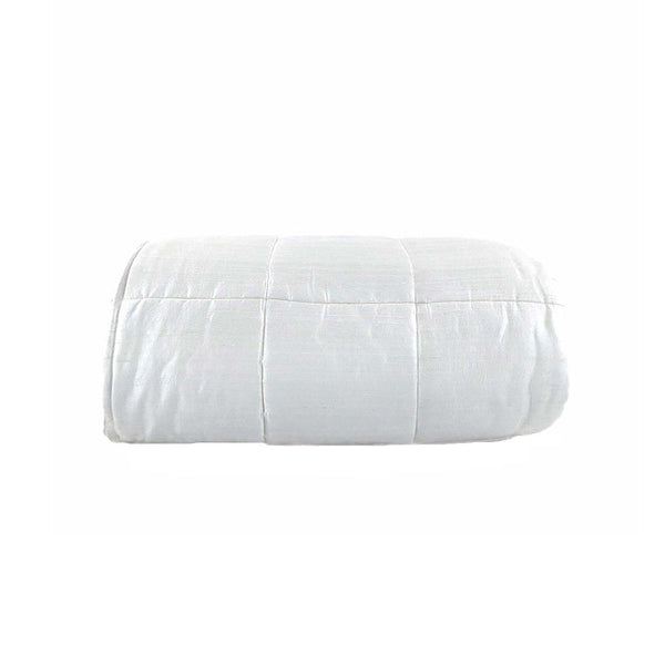QUILTED BEDSPREAD WHITE  270X270CM