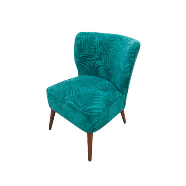 CHAIR COLOR TH140 BLUE GREEN LEAF PRITHING FABRIC